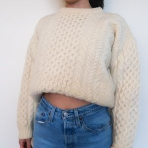 Hand knitted vintage 100% wool made in Ireland